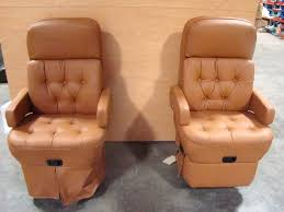 used rv motorhome furniture erscotch vinyl leather look 2 piece captain chairs rv