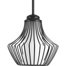 finn collection 1 light black pendant with etched white glass