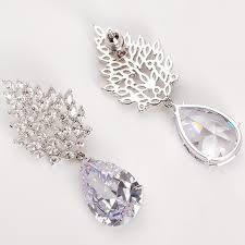large diamond dangle wedding earrings