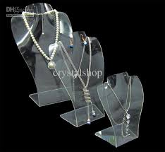 Acrylic Necklace Display Stands Interesting 32 Wholesale Clear Acrylic Necklace Pendant Earrings Jewelry Set