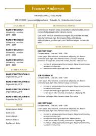 Resume Template Professional Resume Template Creative Resume