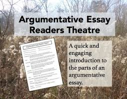 argumentative essay readers theatre by emily kissner tpt