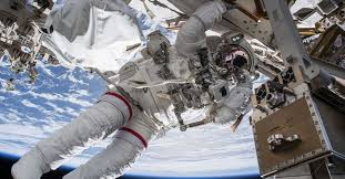 Nasa Conducts Spacewalk To Install Adapters On Iss For
