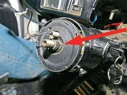 tilt steering column super chevy magazine sucp 0707 05 z tilt steering column lock plate tool