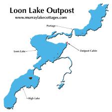 Loon Lake Depth Chart Ontario Fishing Map Dog Lake Murray Lake