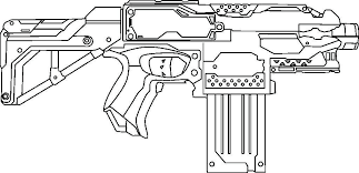 Nerf Coloring Pages Luxury Fantastic Nerf Gun Coloring Pages