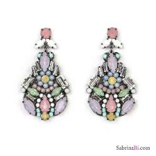 sparkly color candy fluo chandelier earrings