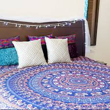 journey mandala tapestry indian elephant bohemian wall art hippie mandala bedspread blanket for bedroom queen size