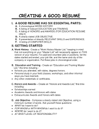 How To Create A Good Resume How To Create A Job Resume Therpgmovie 18