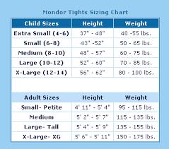 Tights Size Chart Best Buy Figure Skating Mondor Tights Sizing Chart
