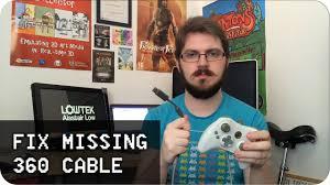 Fix <b>xbox 360 controller</b> Missing <b>USB</b> cable - YouTube