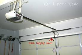 awesome garage door opener hanging angle iron