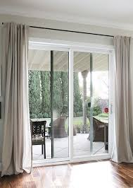 Simple Modern Curtains For Sliding Glass Doors Curtain Rods From Galvanized Pipes Intended Decorating