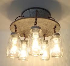 ... An Exclusive Lamp Goods' Mason Jar LIGHT FIXTURE 5-Light - Mason Jar  Light ...