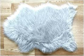 small fluffy rug grey fluffy rug faux small light