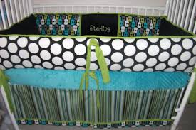 black and green baby bedding