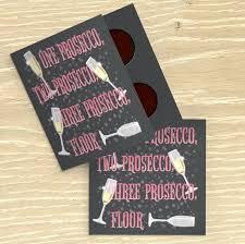 one prosecco chocolate card