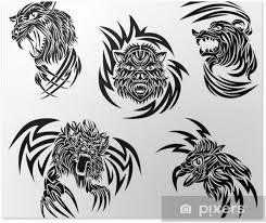 Plakát Volně žijící Zvířata Tetování