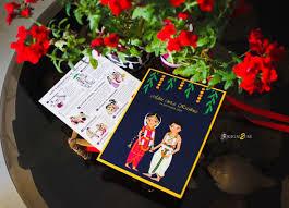 Alia Designs Invitations Cute Indian Cartoon Wedding Invitation Card And All Its