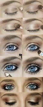 gold bronze smokey eye makeup