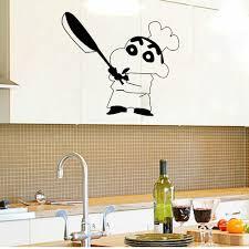 Top Keuken Kok Muursticker Home Decor Krijt Cartoon Patroon