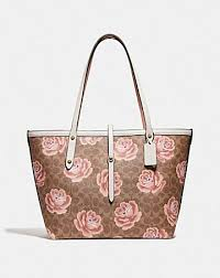 MARKET TOTE IN SIGNATURE ROSE PRINT ...