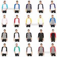 Bella Canvas Premium 3 4 Baseball Tee Tri Blend Vintage Raglan T Shirt 3200 Ebay