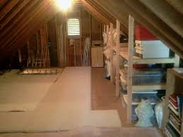 Loft Storage Good Idea For Storage Shelves In Attic Now To Figure Out How To