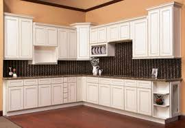 image of antique white cabinets with glaze