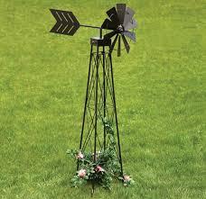 ornamental garden windmill 4ft green