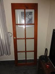 3 internal glass paned doors and 1 external hardwood door