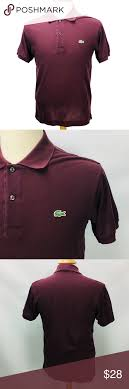 Lacoste Polo Shirt Color Chart Lacoste Polo Golf Shirt Short Sleeve Maroon 3 Xs Brand