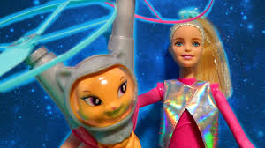 Barbie Star Light Adventure Sprite Doll Barbie Star Light Adventure Galaxy Doll W Flying Hover Cat Unboxing Toy Review
