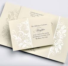 lemontree adriana traditional thermography invitation with scroll pattern