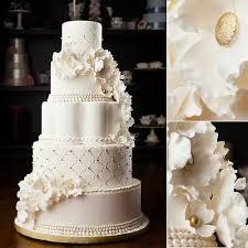 White And Gold Wedding Cake Holy Cakes Wedding Cakes White