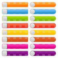 Simple Long Web Button Blank Templates Stock Vector Image