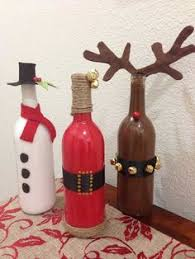 How To Decorate A Wine Bottle For Christmas Tis the season A perfect addition to your holiday decor or a 2