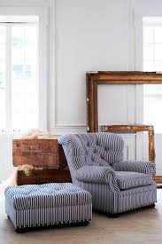 ralph lauren home tufted writer chair and ott reimagined navy striped armchair blue white ryan stripe fabric waterproof slipcovers ikea frame ercol dining
