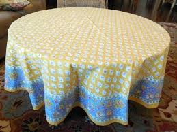 round cotton table cloth vintage french country cotton tablecloth round pretty yellow blue and fabric tablecloths round cotton table cloth