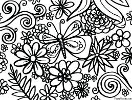 Spring Flower Coloring Pages Realistic Flower Coloring Pages
