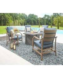 round outdoor fireplace fire pit sets outdoor lounge furniture the home depot