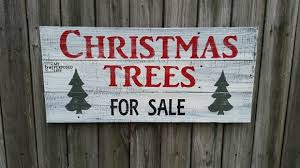 Christmas Trees For Sale Sign - My Repurposed Life®