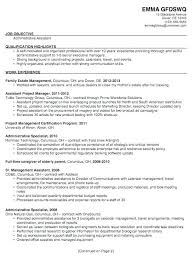 Administrative Resume Objective Administrative Assistant Me