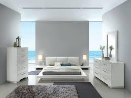 Christie White Leather Headboard Bedroom Set