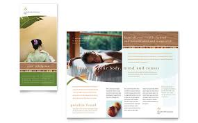 Spa Brochure Template Gorgeous Health Beauty Spa Brochure Template Word Publisher