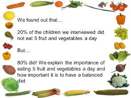 Healthy Eating Questionnaire By Year 2 Children 6 And 7