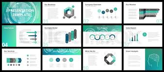 Company Overview Slides Business Presentation Templates Stock Vector Colourbox