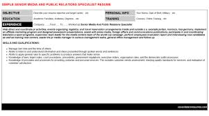 Senior Media And Public Relations Specialist Cv Cover Letter