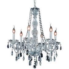 6 light venetian 28 glass chrome asfour tear drop crystal pendant chandelier