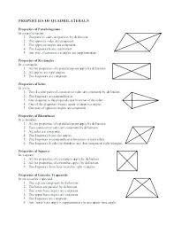 Quadrilateral Properties Chart Answers Math Games Quadrilaterals Csdmultimediaservice Com
